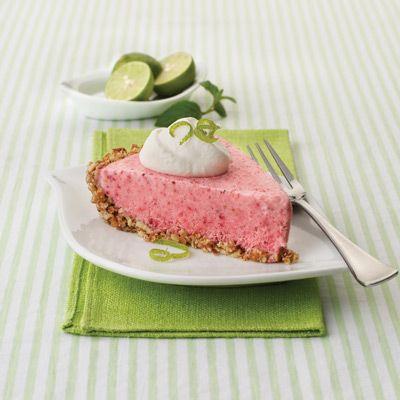 Frozen Strawberry Margarita Pie. Salty pretzels help create the crust ...