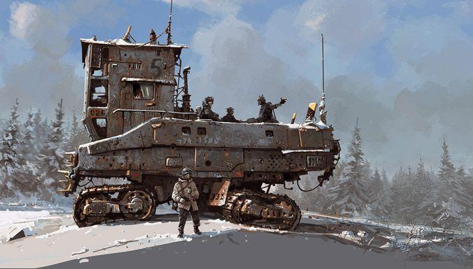 A arte de Ian McQue da Rockstar