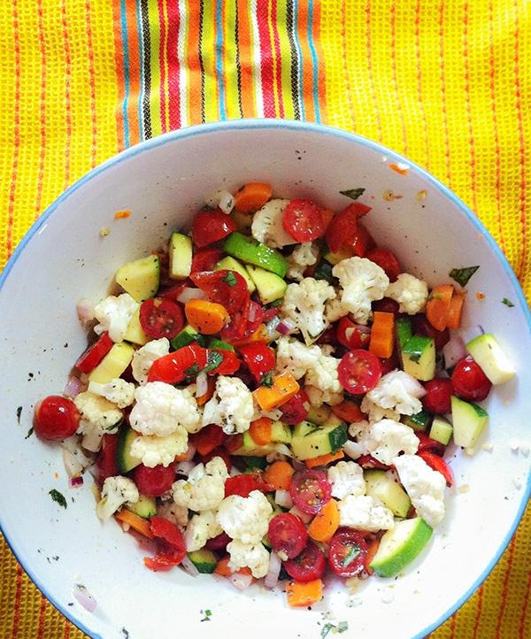 Marinated Vegetable Salad - white wine vinegar, Italian seasoning ...
