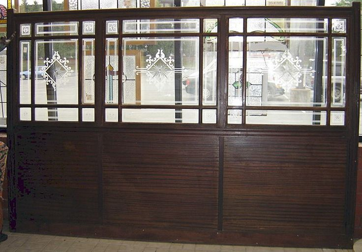 Architectural Wood & Glass Antique Bar Wall Divider  $1000