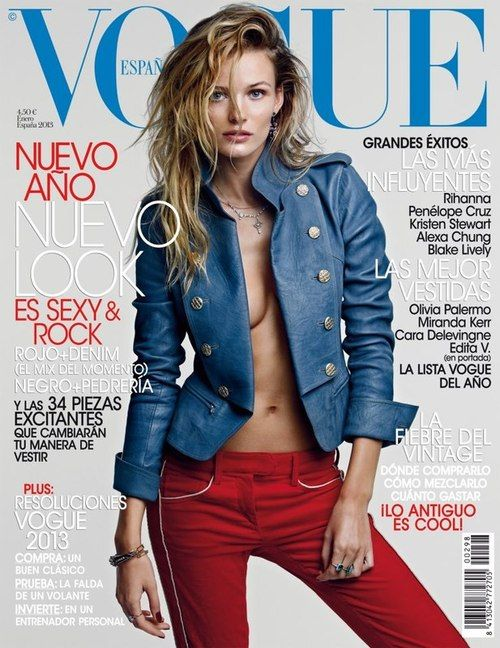 Vogue Spain January 2013 : Edita Vilkeviciute by Patrick Demarchelier