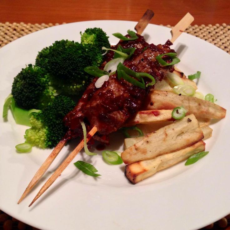 Smashed Steak Skewers With Cherry Barbecue Sauce Recipes — Dishmaps