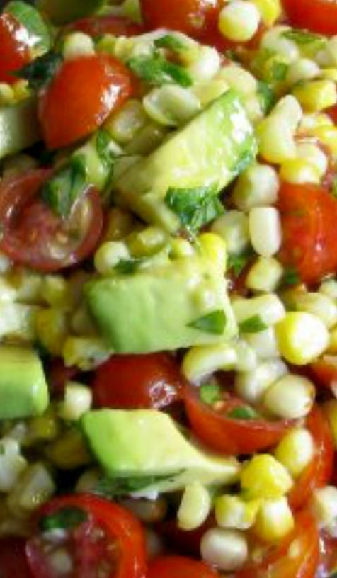 ... avocado dressing tomato tomatillo and corn salad with avocado dressing