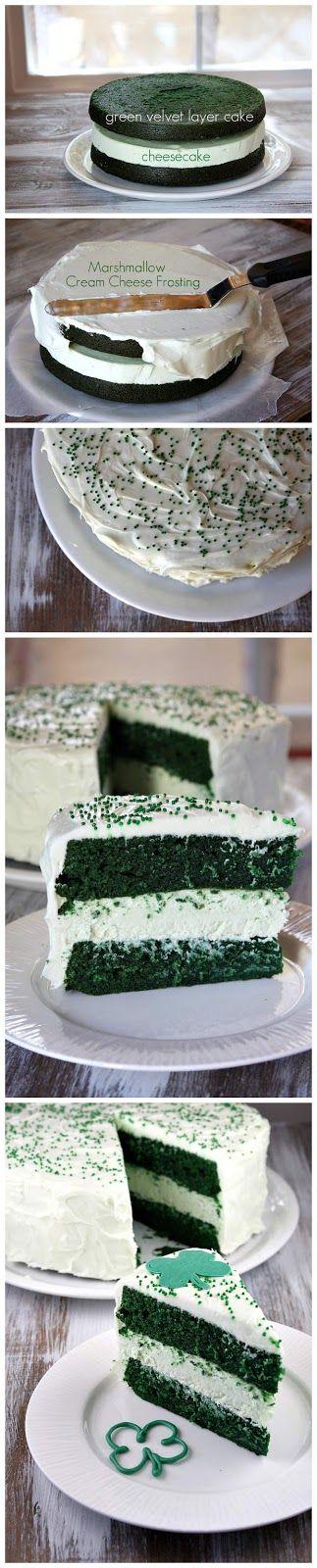 green velvet cheesecake cake | CHEESECAKES | Pinterest