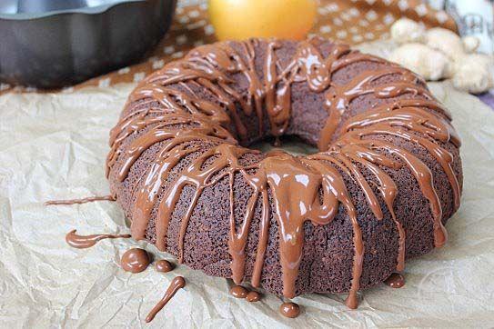 Chocolate Orange Ginger Bundt Cake (GF, vegan, and refined sugar free)