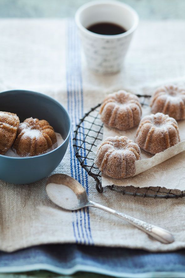 Pear, Hazelnut and Brown Butter Cakes