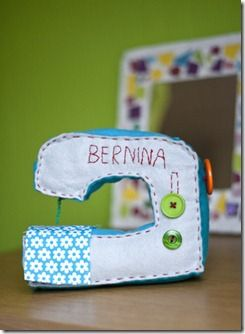 cute felt sewing machine