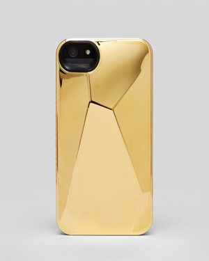 Gold iphone case by Marc Jacobs