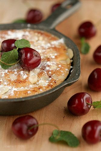 Cherry and Almond Clafoutis √ | love to bake | Pinterest