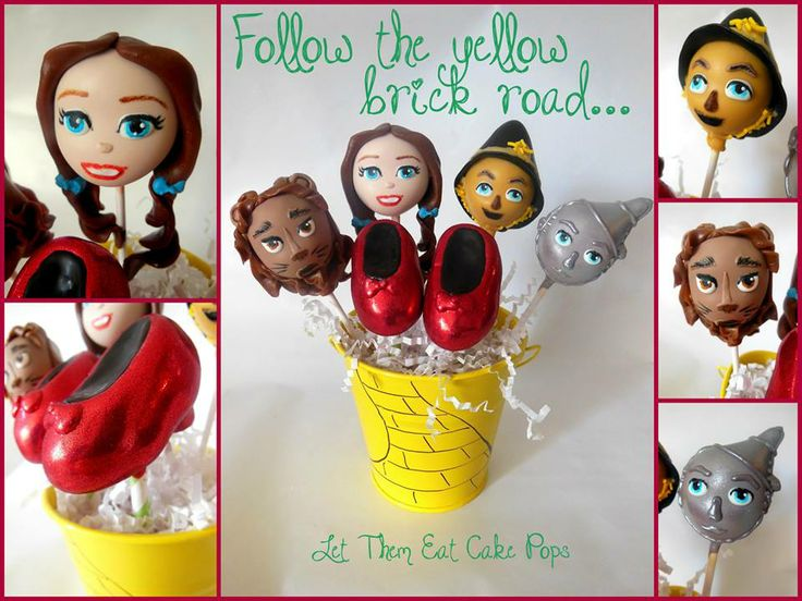 Wizard of Oz Cake Pops.  Let Them Eat Cake Pops.