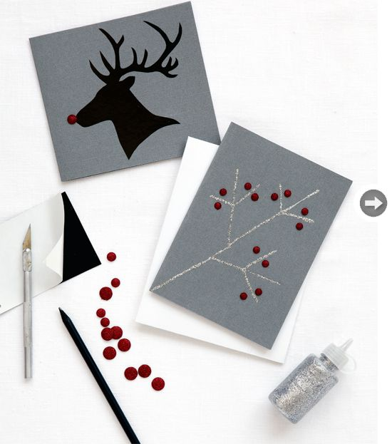 Adorable DIY holiday cards.