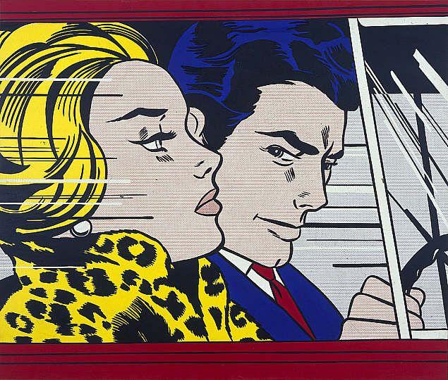 in the car 1963 roy lichtenstein art pinterest. Black Bedroom Furniture Sets. Home Design Ideas