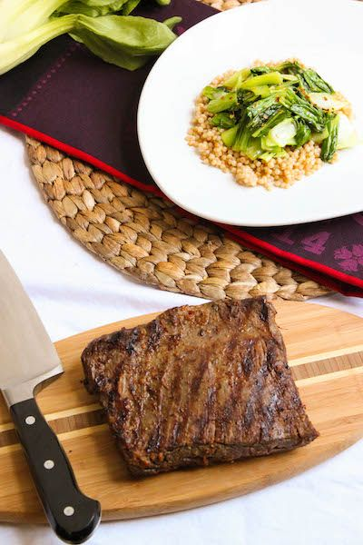 Soy-Ginger Marinated Flank Steak is filled with so much flavor! Serve ...