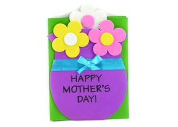 Mother s day flowers card craft kit mother 39 s day crafts for Mother s day craft kits