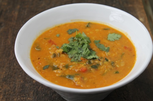 Curried Red Lentil & Chard Soup | Food To make | Pinterest