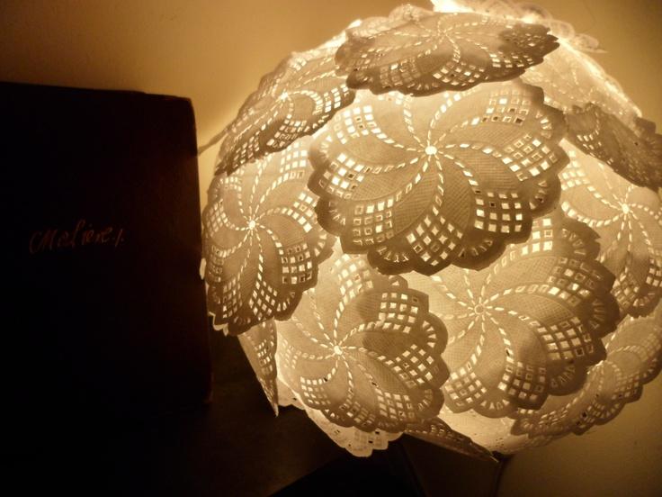Luz blondas de papel bola china de papel ideas - Blondas de papel ...