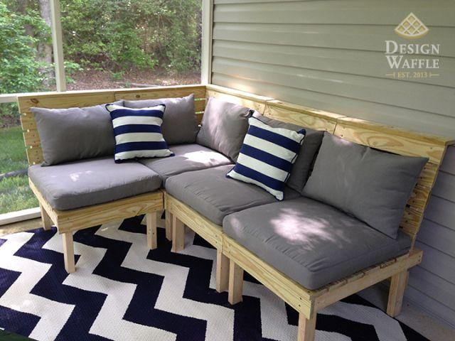 DIY Modular Patio Furniture Plans Design Waffle Blog