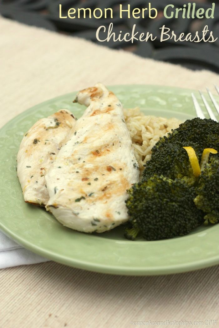 Lemon Herb Grilled Chicken Breasts for #ChooseDreams #WeekdaySupper ...