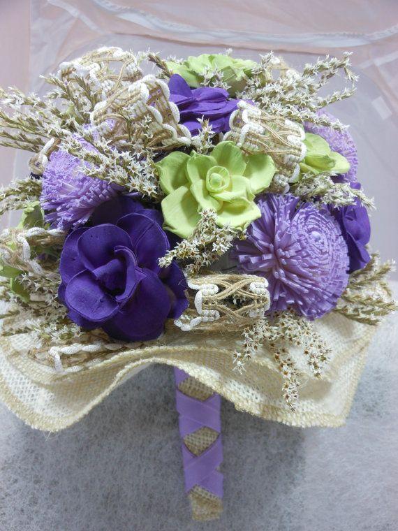 Praire Garden Wedding Bouquet Sola Flowers By By AMailOrderBride 75