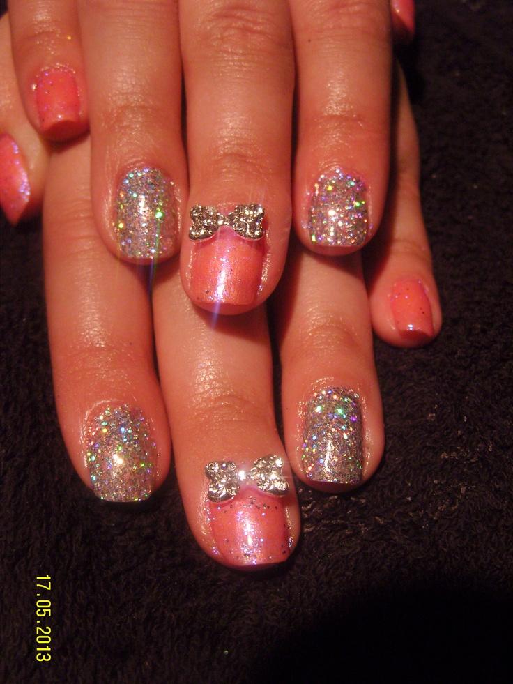 rock star shellac glitter nails | Nails | Pinterest