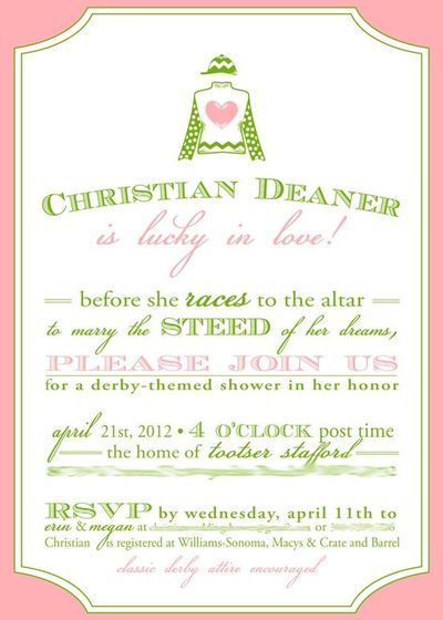 Kentucky Derby Bridal Shower Invitations is the best ideas you have to choose for invitation example
