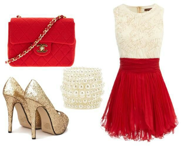 Christmas dinner outfit christmas glitter pinterest for Outfit ideas for dinner party