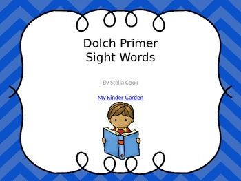 Dolch Primer Sight Word PowerPoint: http://pinterest.com/pin/360569513890520630/