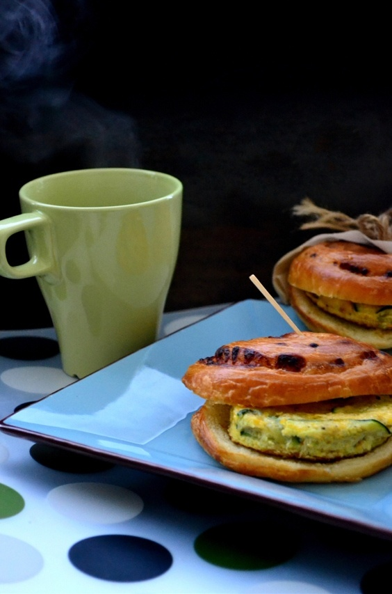 Summer Squash and Mushroom Frittata Sandwich with Penja Pepper and ...