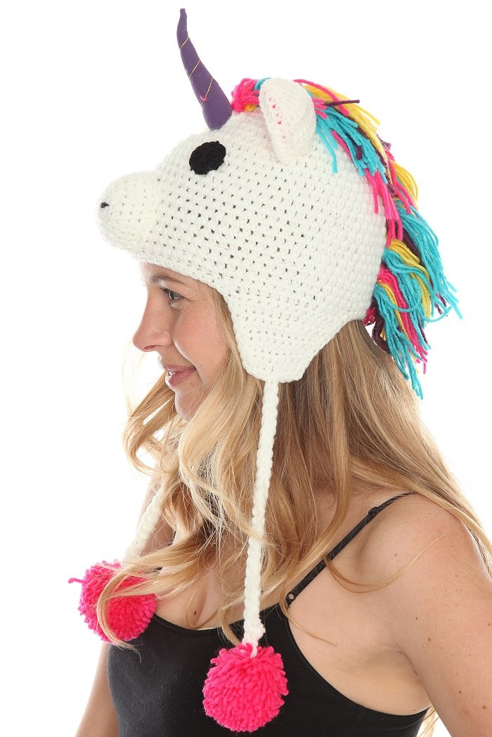 Knitting Pattern For Unicorn Hat : Unicorn Knit Hat crochet Pinterest