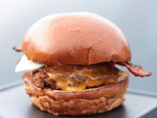 "Merica Burger""....Slater's 50/50, home of the half beef/half bacon ..."
