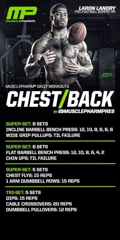 Musclepharm chest and back workout