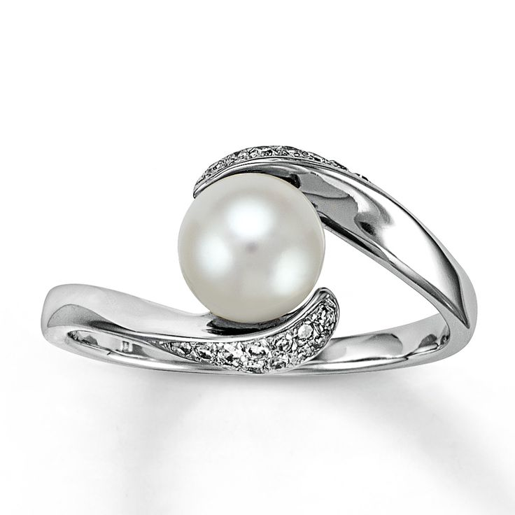 Pearl engagement ring wedding pinterest for Pearl engagement ring with wedding band