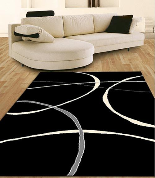 Black And White Area Rug Home Decor Pinterest