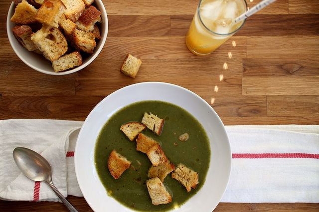 Make without the croutons. spinach soup with garlic thyme croutons by ...