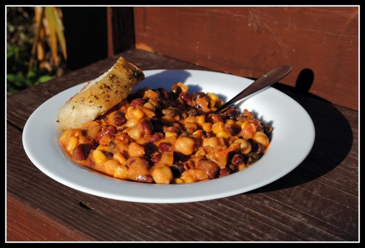 Vegetarian peanut butter chili | Bari menus | Pinterest
