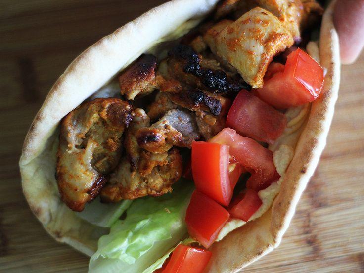 Yogurt Marinated Chicken Kebabs With Romesco Sauce Recipe ...