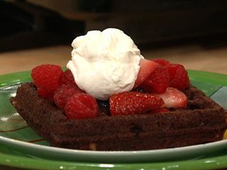 Brownie waffles from Rachael Ray | Waffle Iron | Pinterest