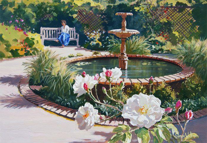 nancy steen garden from his parnell series oil 51cm x 71 nz 3 950