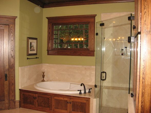 Pin by vicki megenity jones for Arts and crafts style bathroom design