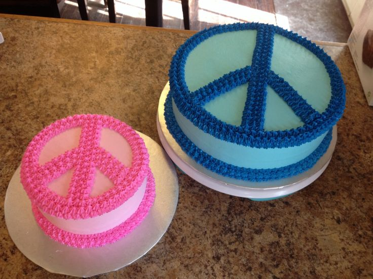 Peace Sign Cakes Pinterest