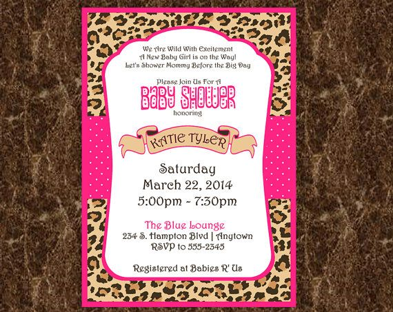 Cheetah Baby Shower Invitations for your inspiration to make invitation template look beautiful