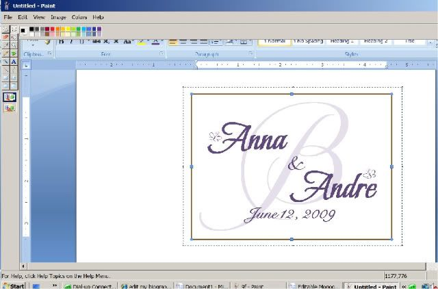 How to design your own monogram in microsoft word project wedding