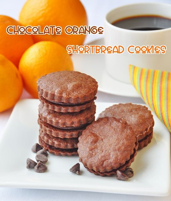 Chocolate Orange Shortbread Sandwich Cookies - Buttery chocolate ...
