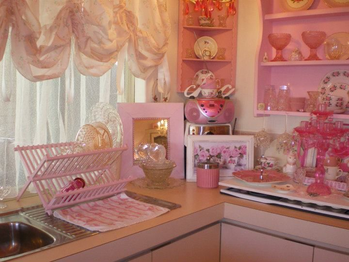 Pretty Pink Kitchen Shabby Chic Kitchen Pinterest