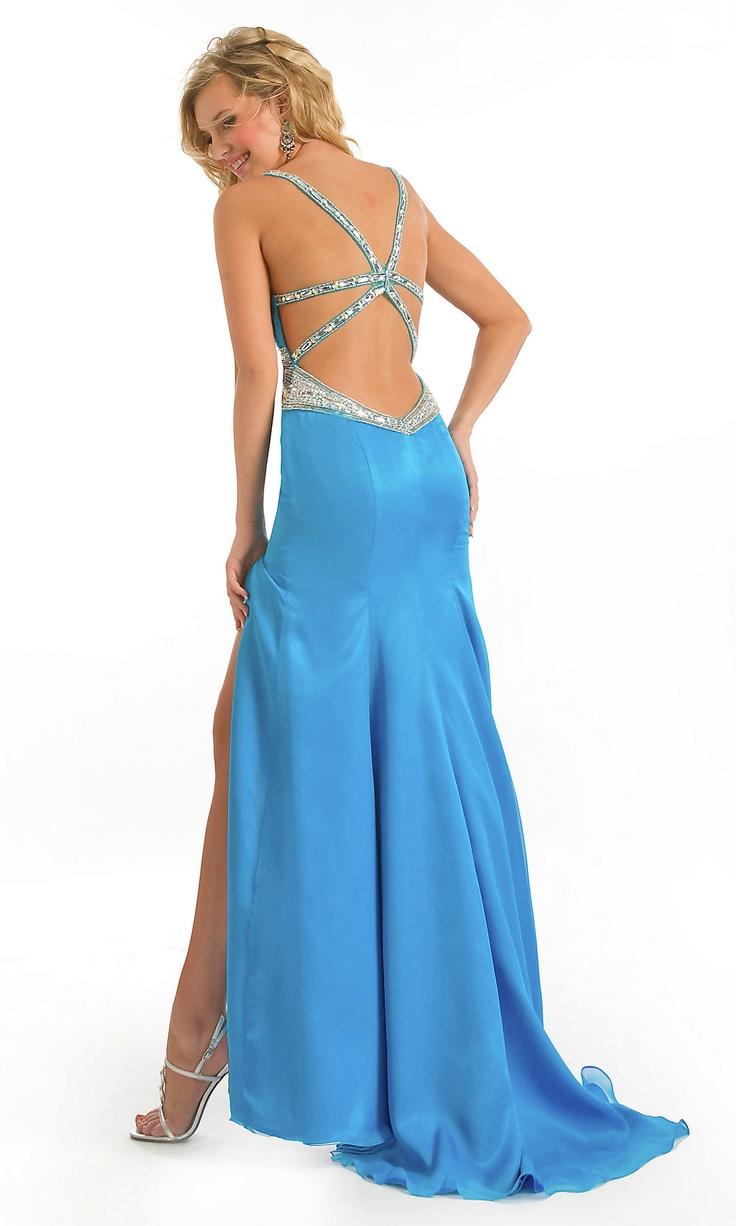 Long elegant blue dresses