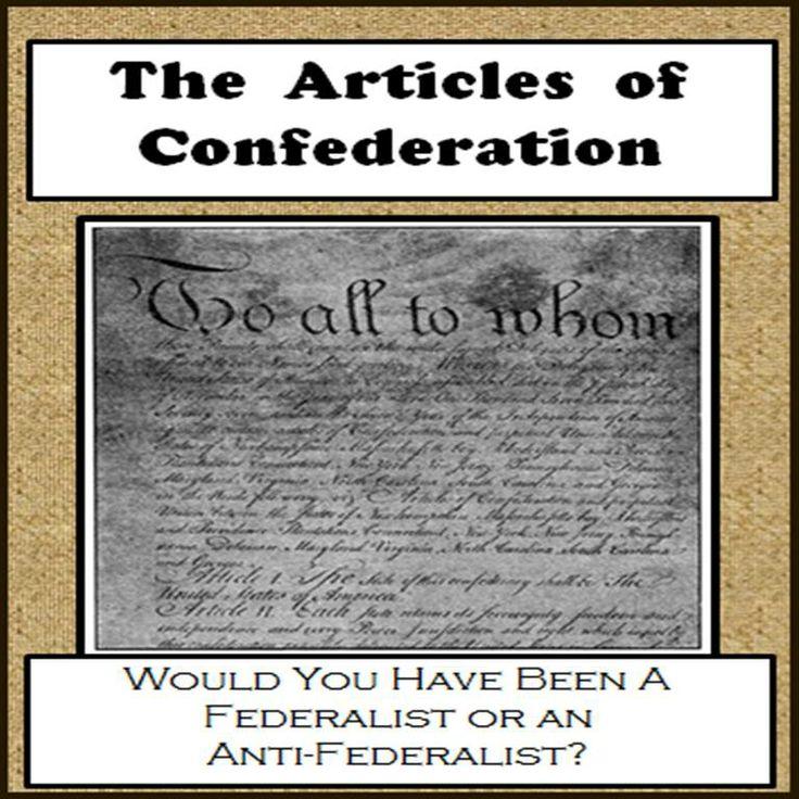 ARTICLES OF CONFEDERATION VS. CONSTITUTION