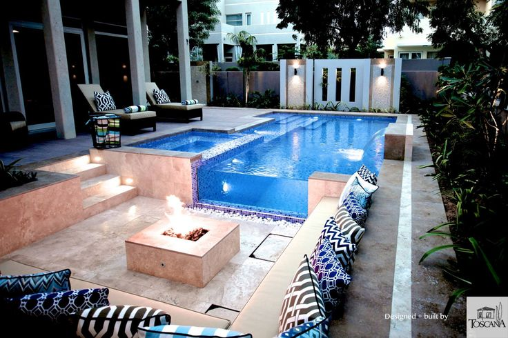 Pin by hamlin pools on water features pinterest for Garden pool dubai