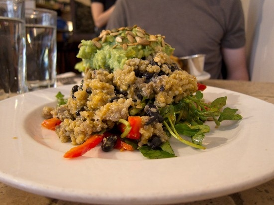 re-create this salad of quinoa, black beans, mango guacamole, poblano ...