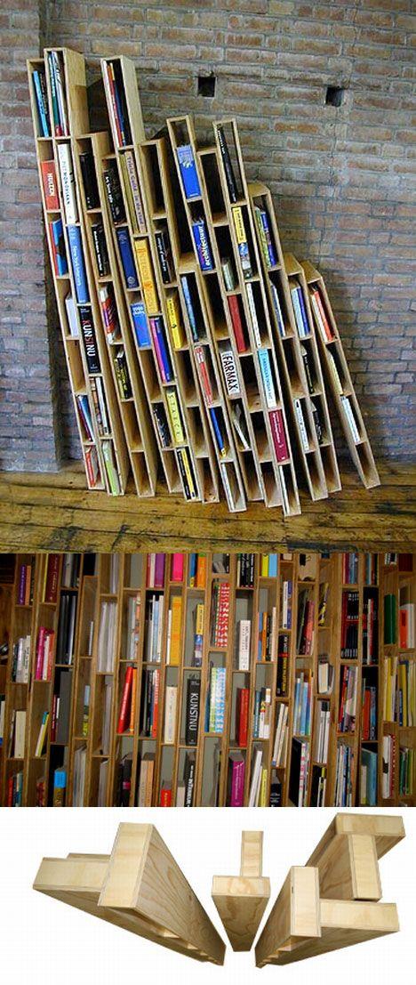 Vertical Stack Bookshelf 468 x 1107
