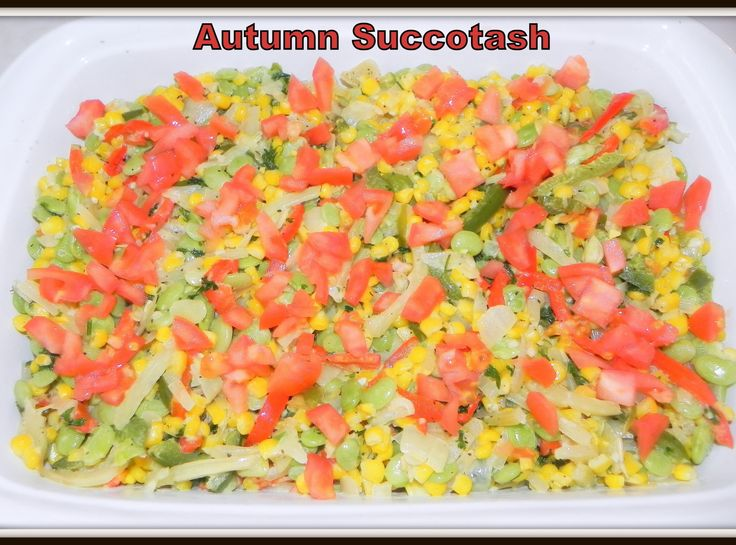 Autumn Succotash --- loaded with delicious veggies and topped with ...